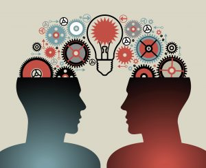 business concepts. the concept of human intelligence. people has an idea. Brain storming